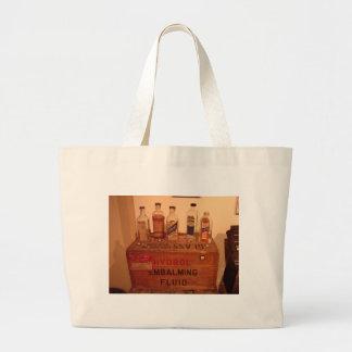 Vintage Embalming Fluid Photo Large Tote Bag