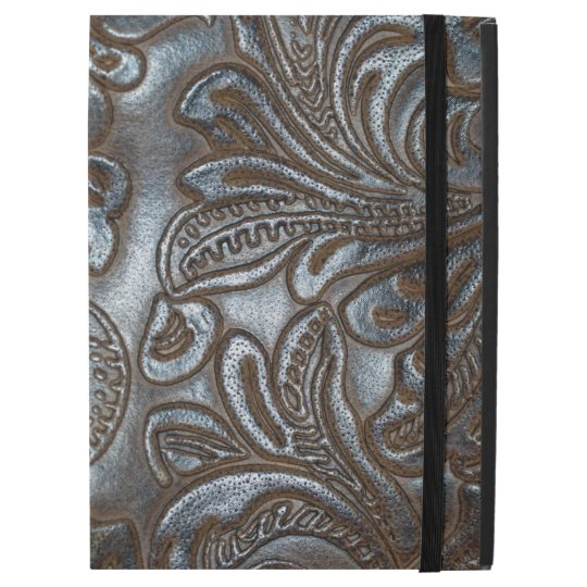 Vintage Embossed Brown Leather