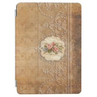 Vintage Embossed Gold Scrollwork and Roses iPad Air Cover