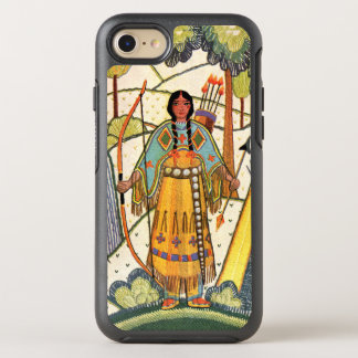 Vintage Embroidered Look Native American Girl OtterBox Symmetry iPhone 8/7 Case