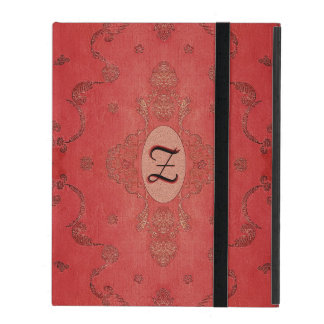 Vintage Embroidered Silk Monogram iPad Case