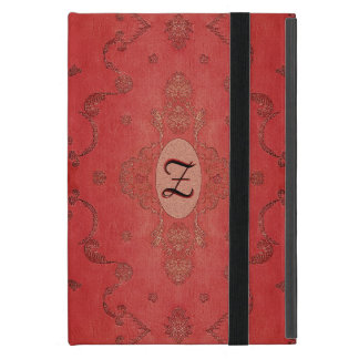 Vintage Embroidered Silk Monogram iPad Mini Cover