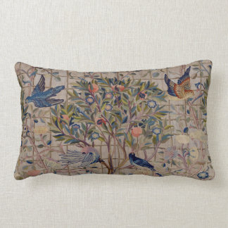 Vintage Embroidery Pomegranates On Trellis Cushion