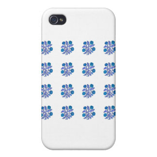 Vintage Embroidery Style Flowers Cover For iPhone 4