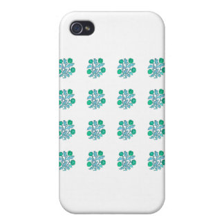 Vintage Embroidery Style Flowers iPhone 4 Case