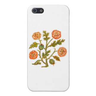 Vintage Embroidery Style Flowers iPhone 5/5S Cover