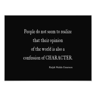 Vintage Emerson Inspirational Character Quote Photograph