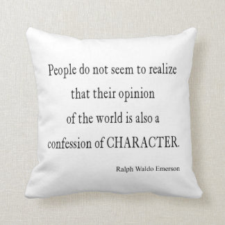 Vintage Emerson Inspirational Character Quote Throw Pillow