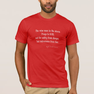 Vintage Emerson Inspirational Courage Quote T-Shirt