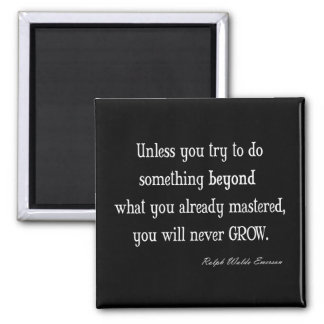 Vintage Emerson Inspirational Growth Mastery Quote Square Magnet