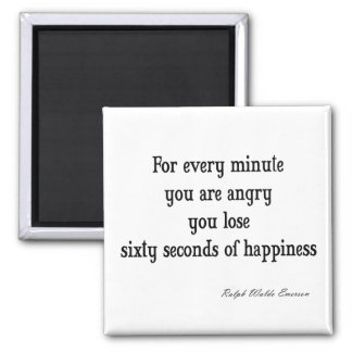 Vintage Emerson Inspirational Happiness Quote Magnet