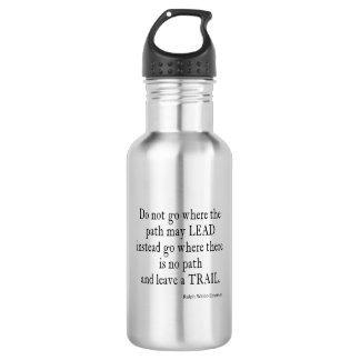 Vintage Emerson Inspirational Leadership Quote 532 Ml Water Bottle