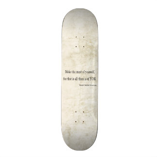Vintage Emerson Inspirational Quote Skate Deck
