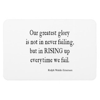 Vintage Emerson Overcoming Failure Quote Magnet