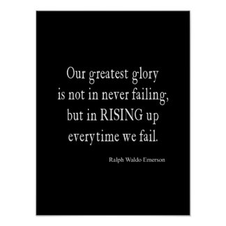 Vintage Emerson Overcoming Failure Quote Poster
