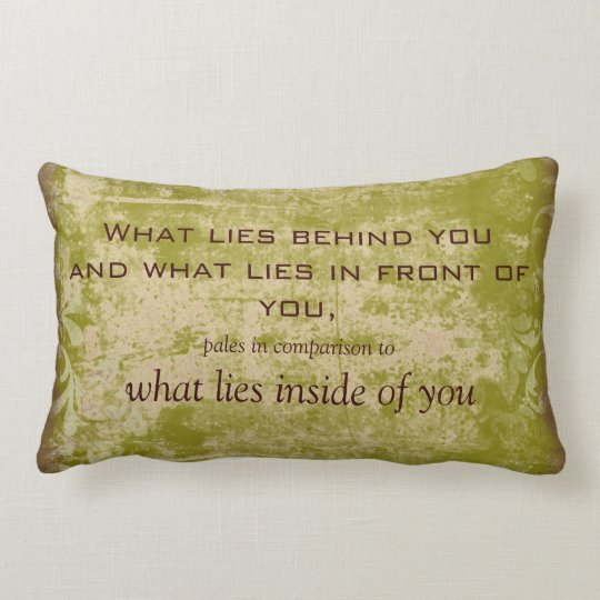 Vintage Emerson Quote Throw Pillow