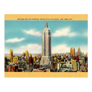 Vintage Empire State Building New York Postcard