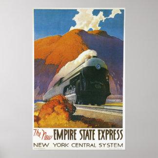 Vintage Empire State Express Locomotive Print