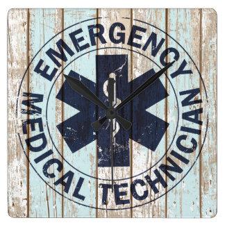 Vintage EMT Stripes Wood Clock