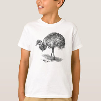 Vintage Emu Australian Bird Illustration Template T-Shirt