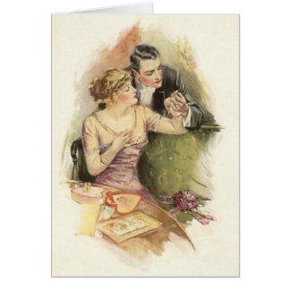 Vintage Engagement Marriage Proposal Greeting Card