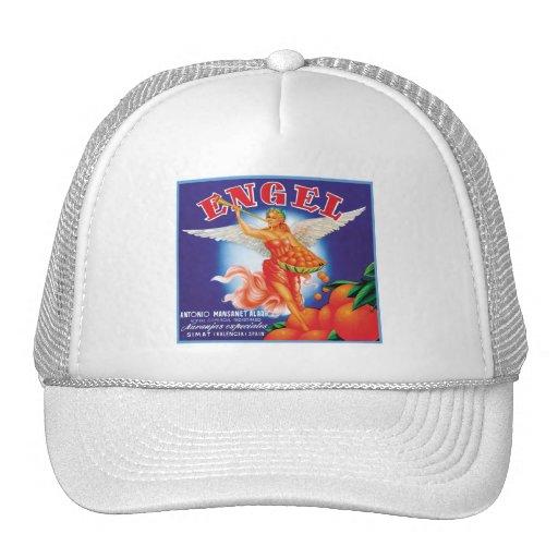 Vintage Engel Fruit Crate Label Mesh Hat