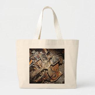 Vintage Engine Large Tote Bag