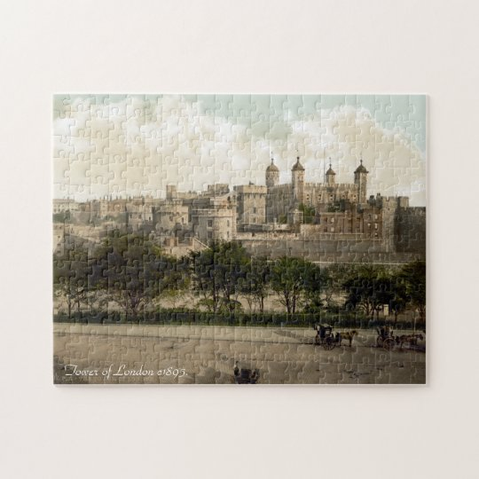 Vintage England jigsaw, Tower of London Jigsaw Puzzle