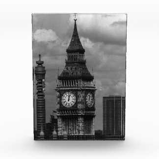Vintage England London post office tower Big ben