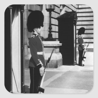 Vintage England London sentry at Buckingham 1970 Square Sticker