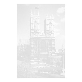 Vintage England London Westminster Abbey 1970 Customized Stationery