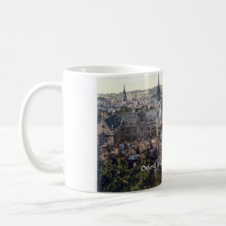 Vintage England mug, Oxford city panorama c1895 Coffee Mug