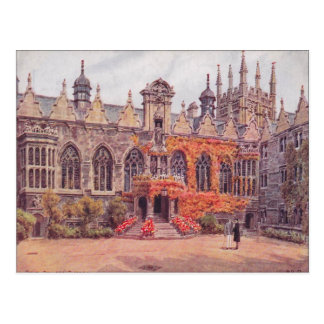Vintage  England, Oriel College, Oxford, 1925 Postcard