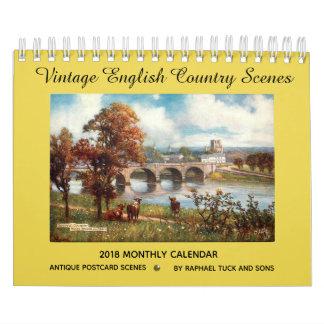 Vintage English Country Scenes 2018 Calendar