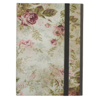 Vintage English Garden Roses Pink Creme Flowers Case For iPad Air