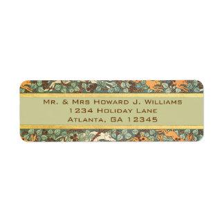 Vintage English Rabbit Hunt Return Address Return Address Label