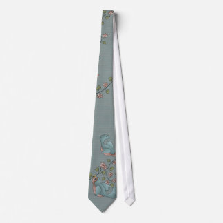 Vintage English Rose Bird Silky Mens' Neck Tie