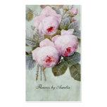 Vintage English Rose Garden Botanical Custom Pack Of Standard Business Cards