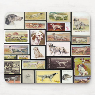 Vintage English Setter Cigarette Cards Mousepad