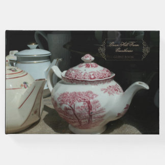 Vintage English Teapot Guesthouse Guest Book
