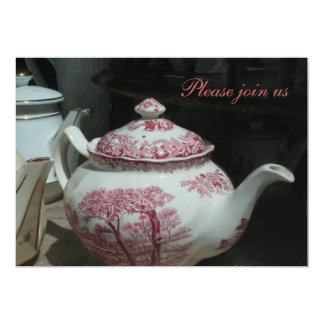 Vintage English Teapot Teatime Invitation