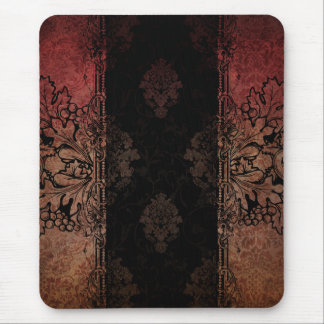 Vintage Engraved Damask Mousepad