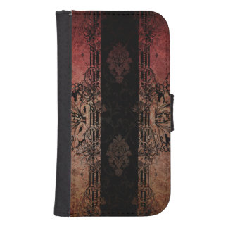 Vintage Engraved Damask Samsung S4 Wallet Case