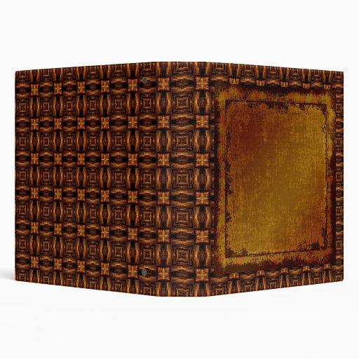 Vintage Engraved Leather Binder