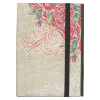 Vintage Engraved Roses and Swirls iPad Air Cover