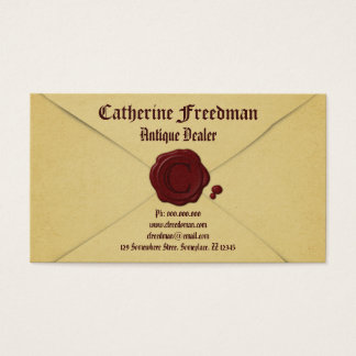 Vintage Envelope Antique Dealer Business Cards