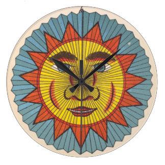 Vintage Ephemera Sun Large Clock