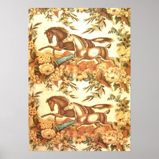 Vintage Equestrian Horse Poster