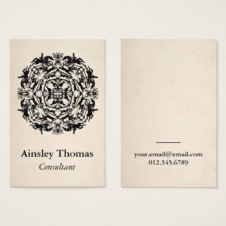 Vintage Equestrian Kaleidoscope Business Card