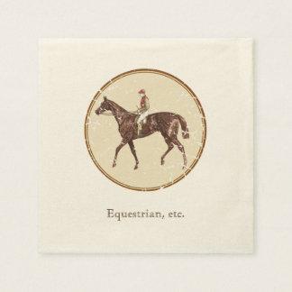 Vintage Equestrian Paper Napkin